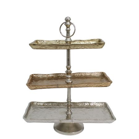Celine 3 Tier Server Tiered Stand Plate Stands Tiered