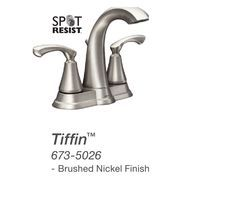 Moen Tiffin Bathroom Sink Faucet From Menards Sink Faucets