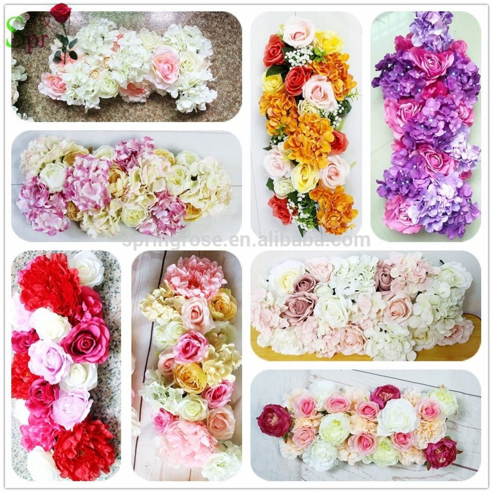 Spr custmoized color style wedding table artificial flowers