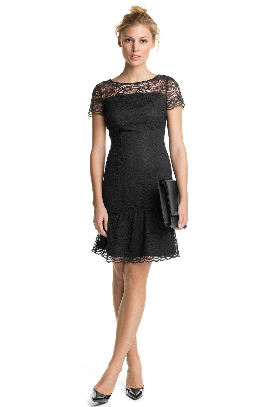 fc84821f8b45 Esprit - Kleid aus Spitze mit Saumrüsche im Online Shop kaufen ...