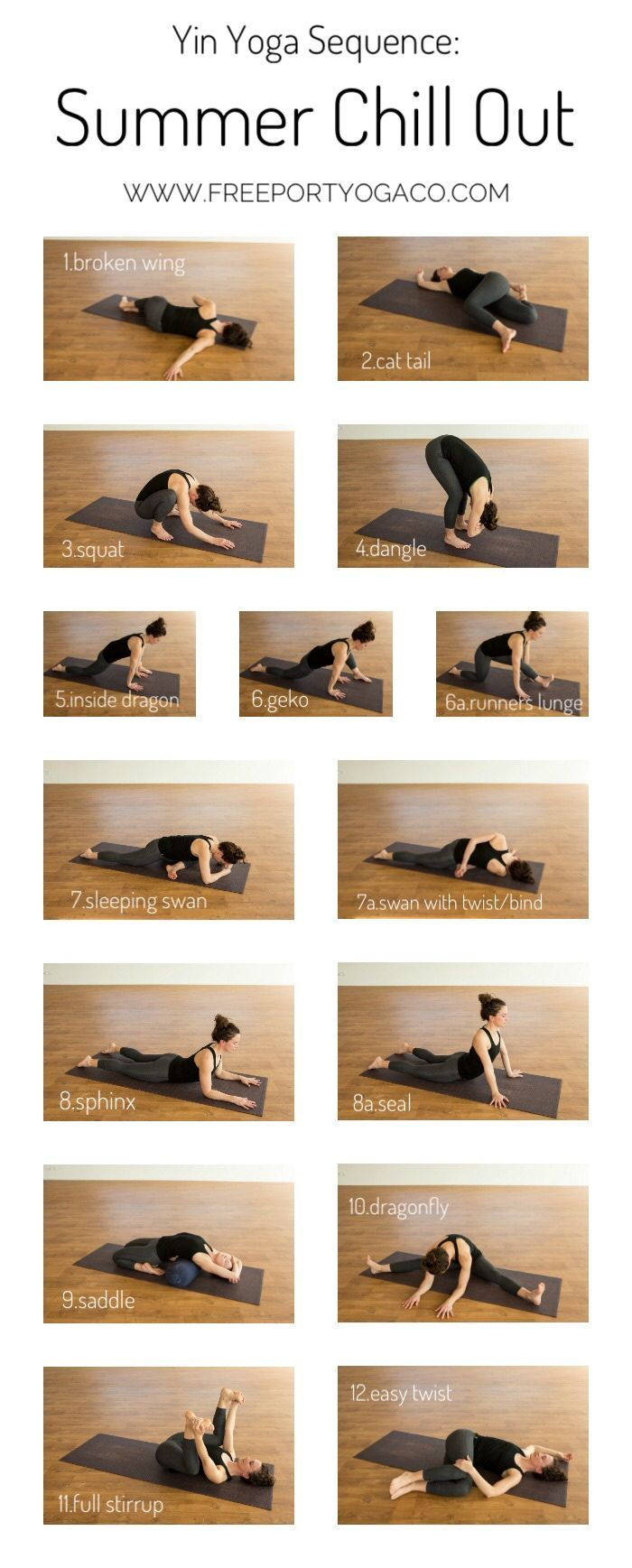 Yin Yoga Sequence: Summer Chill Out - Freeport Yoga Co