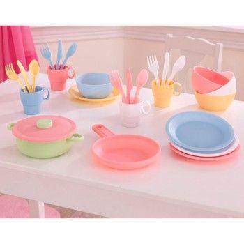 Juego de utensilios de cocina color pastel de Kidkraft