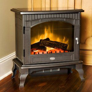 299 Dimplex Lincoln Pewter Freestanding Electric Stove Ds5629gp Electric Wood Stove Electric Stove Portable Fireplace