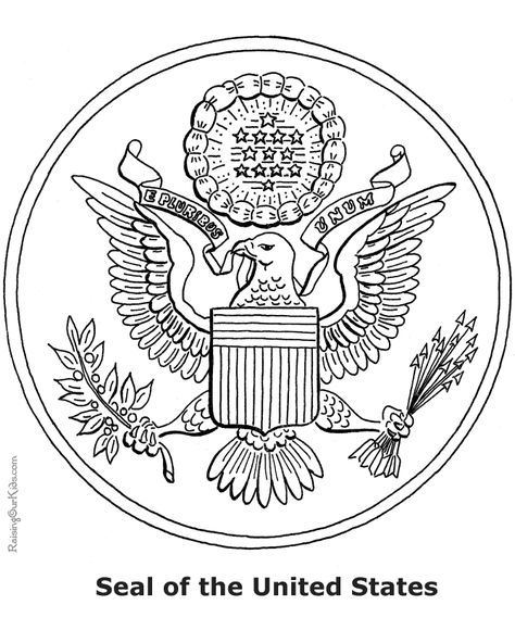 American Symbols Coloring Sheets