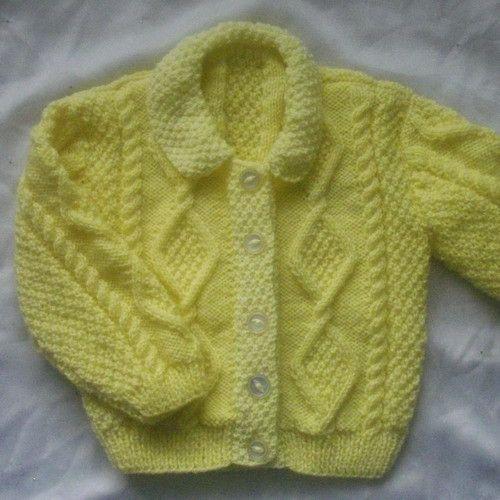 Siobhan baby and toddler aran cardigan PDF knitting pattern ...
