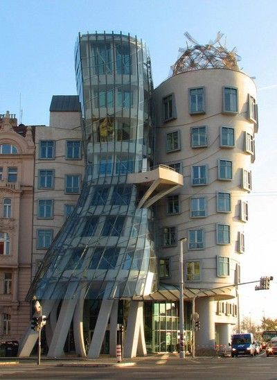 "Ginger i Fred also called as ""Dancing House"", Praga, Czech Republic"