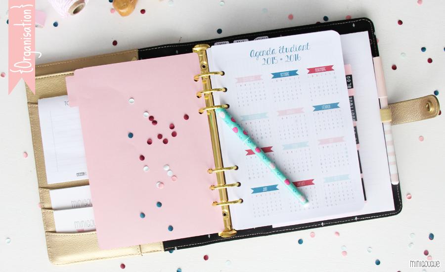 Favori magnifique agenda à commander ou à imprimer | papeterie  KR73