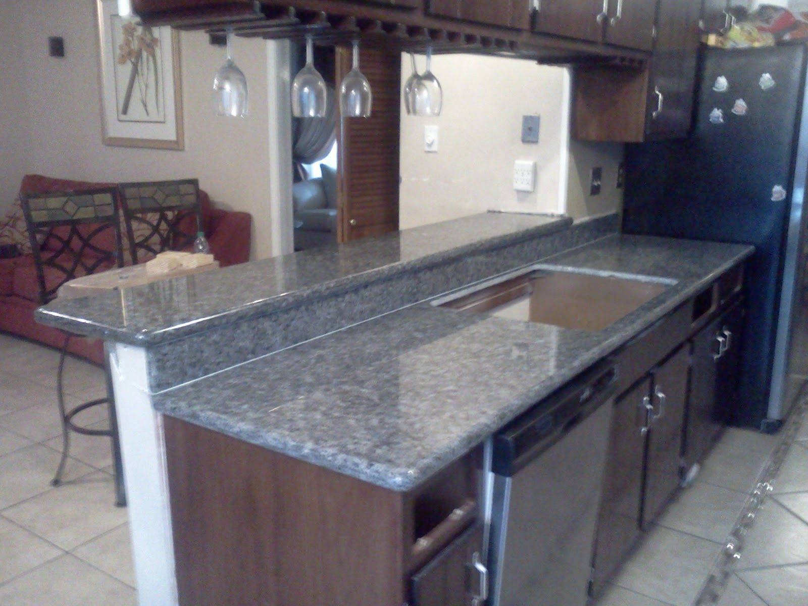 Kitchens With Blue Pearl Granite Countertop Volga Blue