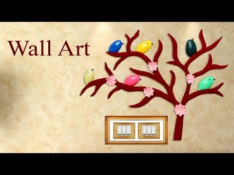 Wall Art || Best out of Waste Idea || Room Decor || Wall Decoration ...