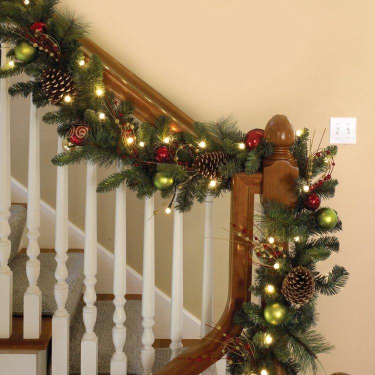 girlande aus naturmaterialien und lichterkette weihnachten pinterest weihnachten. Black Bedroom Furniture Sets. Home Design Ideas