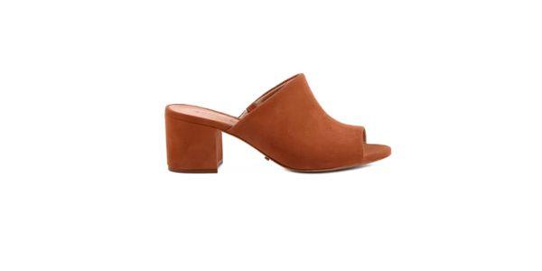 Sapato mule marrom