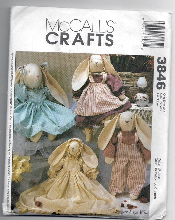 Uncut Sewing Pattern McCall\'s Crafts 3846 by Faye Wine | Parenting ...