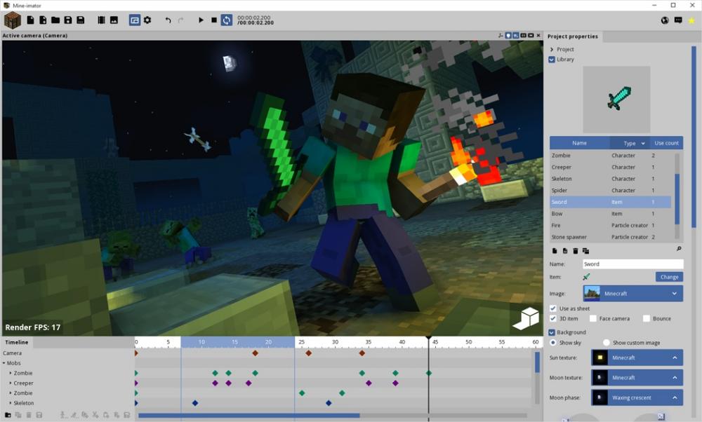 Mine Imator Create Animation Minecraft Theme Create Animated Gif