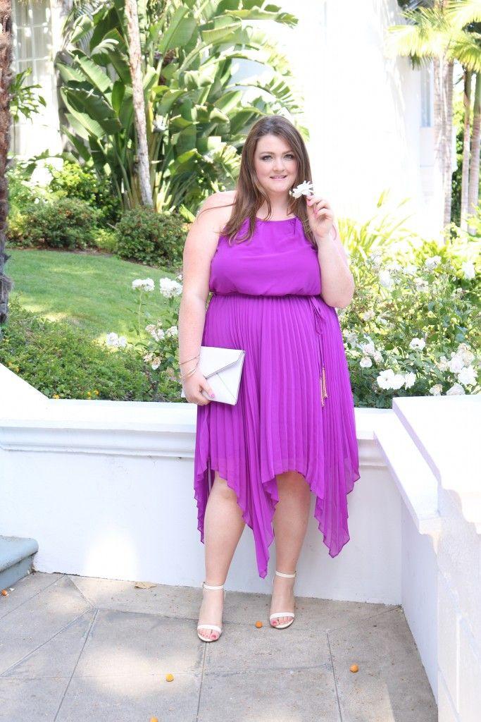 Purple Pop Plus Size Fashion Pinterest Pleated Maxi City Chic