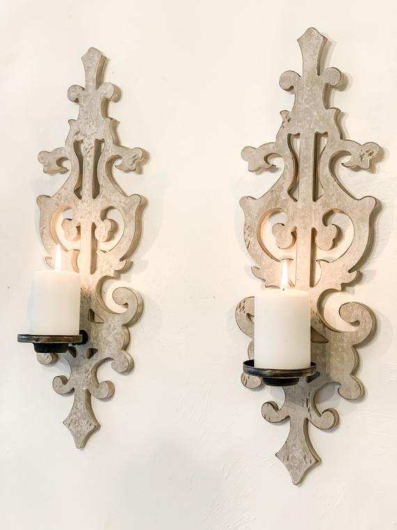 Shabby Chic Wall Sconces Distressed Wall Sconces Wall Decor Distressed Home French Farmhouse Wedding Decor Rustic Home Farmhouse Wedding Decor Hanging Wall Decor French Country Living Room