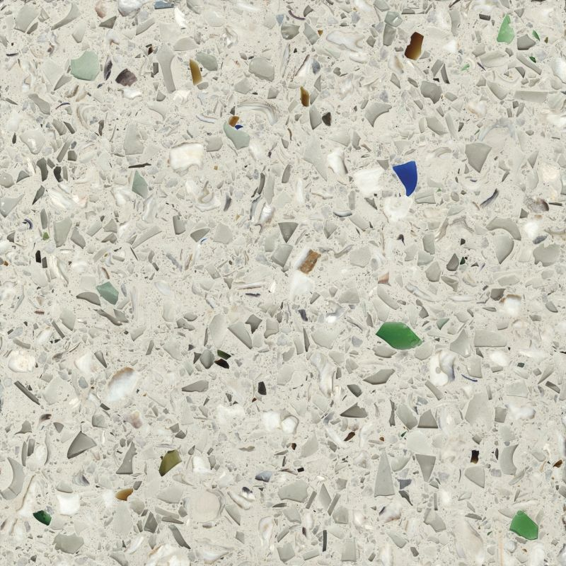 Recycled Marble Countertops umbo white - recycled glass products   vetrazzooyster shells
