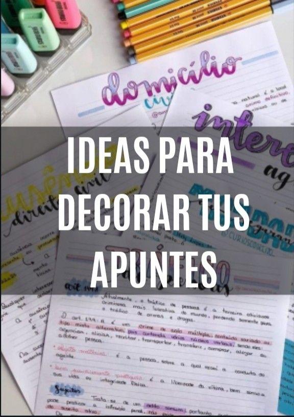 Ideas Para Decorar Tus Apuntes