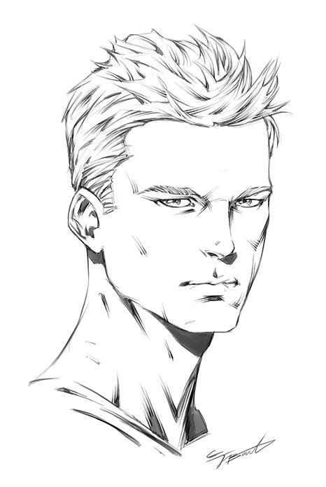 how to draw comics how to draw male heads 3 4 angle superhero