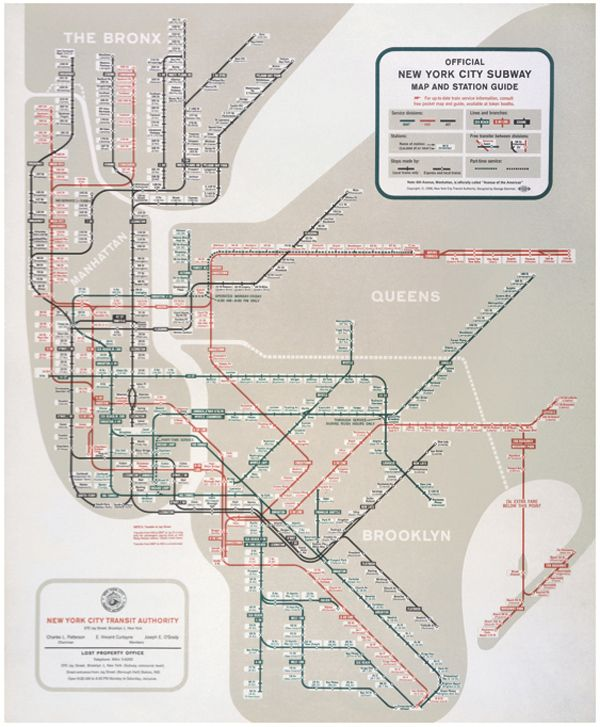 Nyc Subway Map Scan.New York Subway Map By George Salomon 1958 Favorite Places