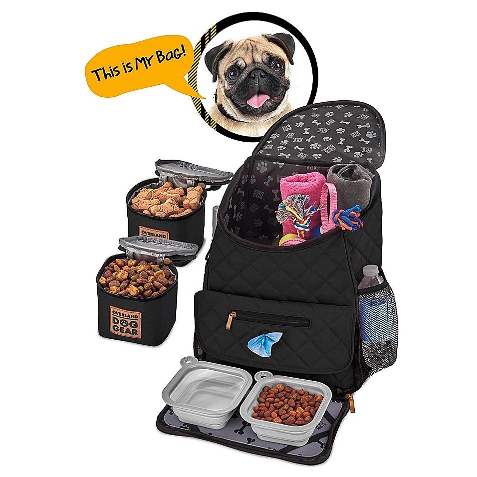 Overland Dog Gear Weekender Backpack In Black Dog Travel Dogs