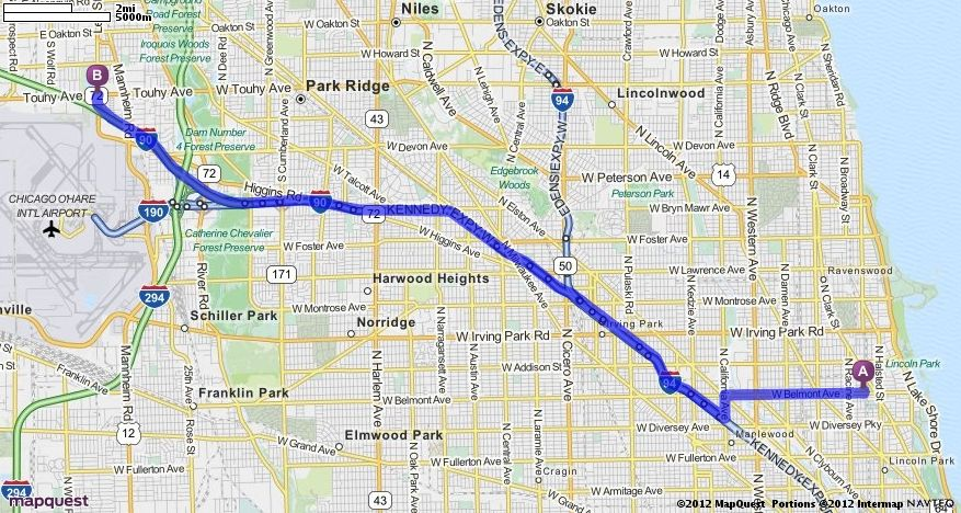 Driving Directions from Leona's in Chicago, Illinois 60657 to ... on
