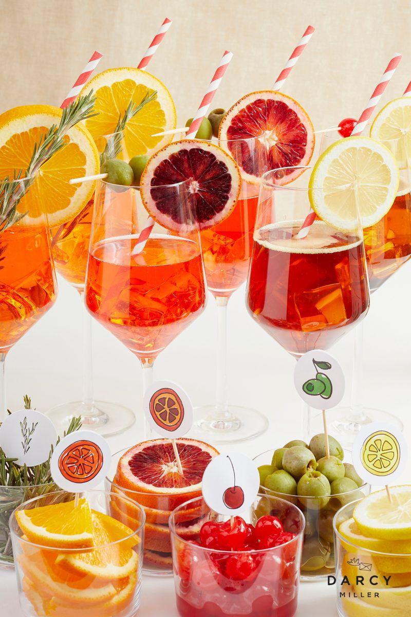 Spritz O Clock Bar Darcy Miller Designs In 2020 Birthday Cocktails Aperol Spritz Spritz