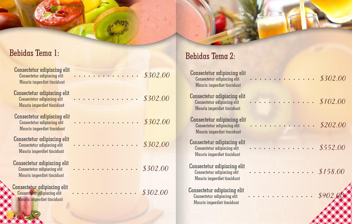 Espaciohonduras dise os de men s para restaurantes de for Restaurantes de comida italiana