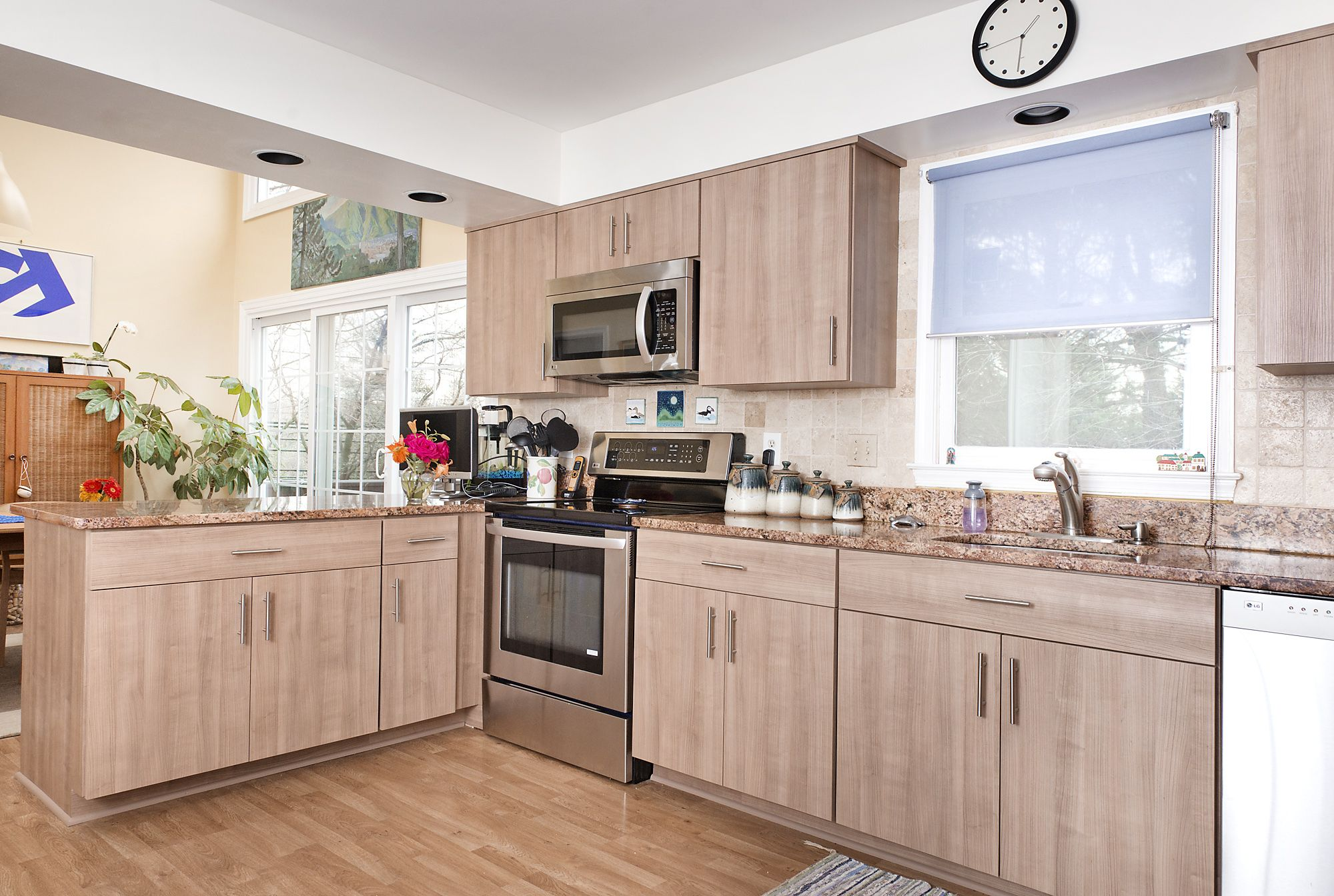 kitchen cabinets new the contemporary style of slab doors plays nicely with 20850