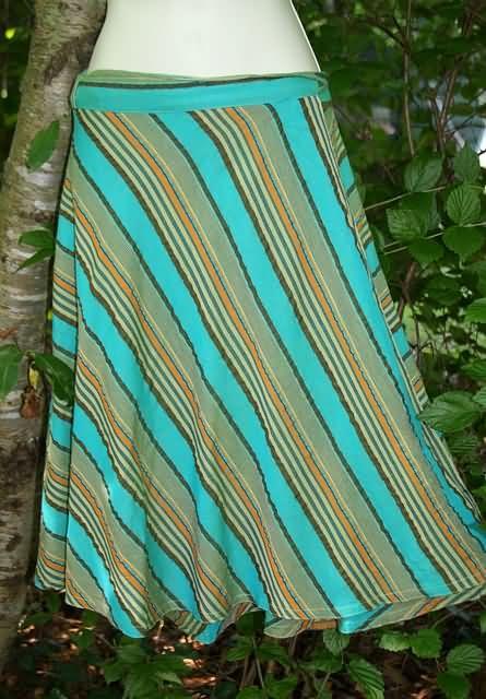Swept Away Seersucker Wrap Skirt - Mist