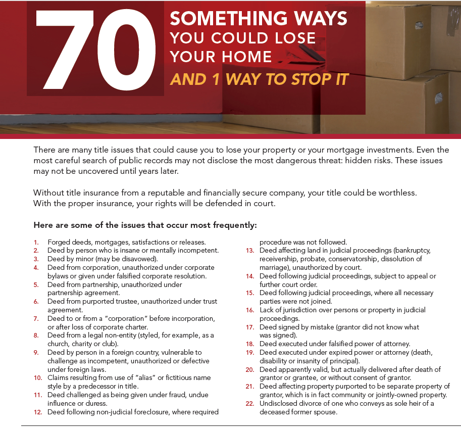 Do You Know There Are 70 Ways You Will Definitely Loose Your Home