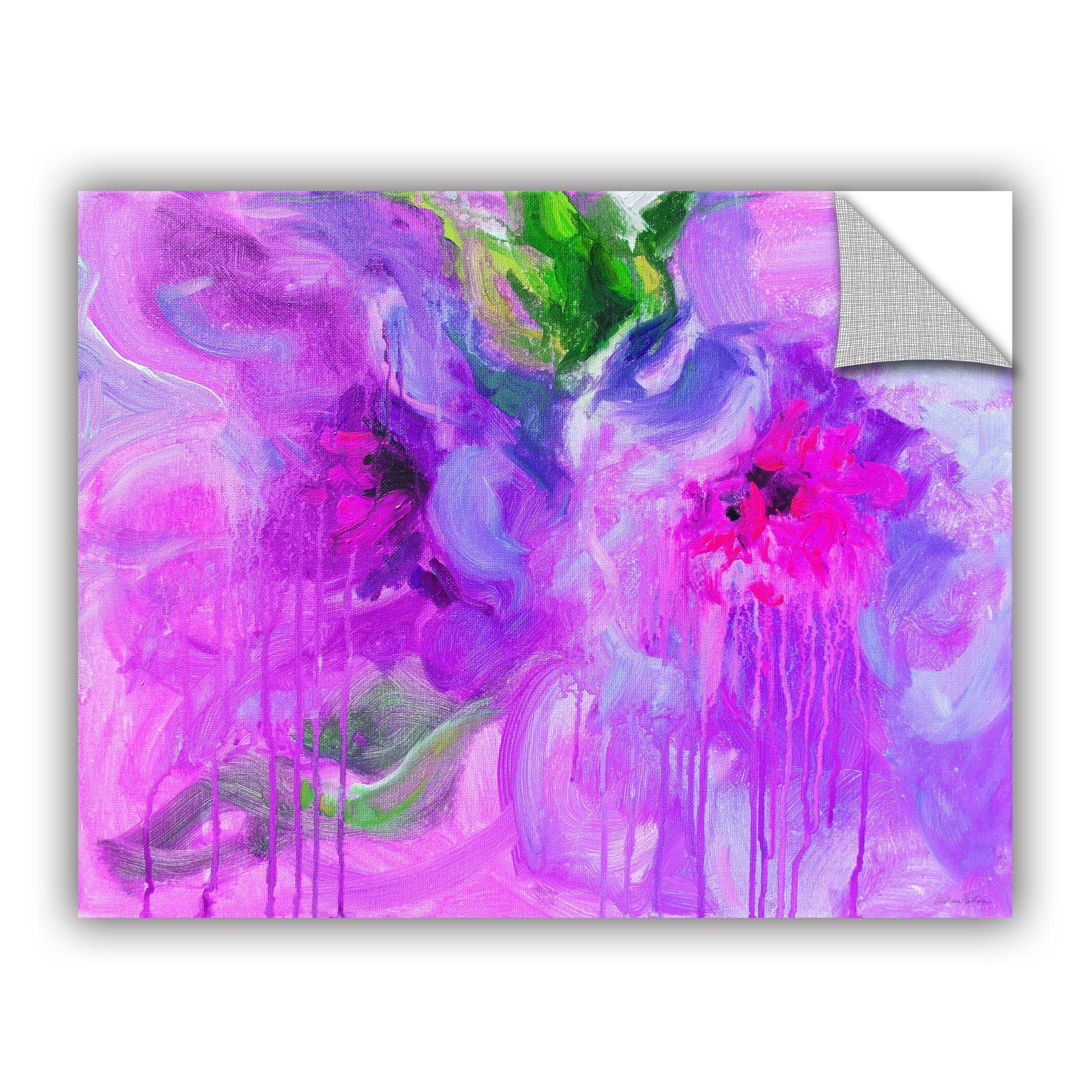 Removable wall art graphic - Artwall Svetlana Novikova Purple Pink Flowers Art Appealz Removable Wall Art By Artwall