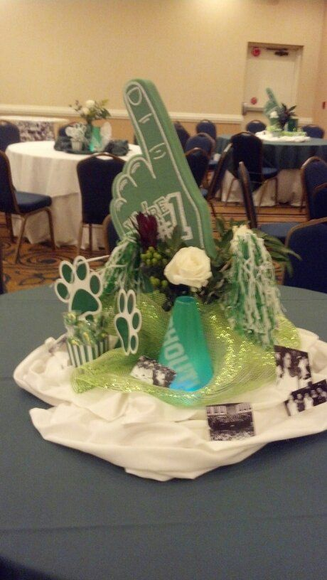 Reunion table centerpiece high school ideas