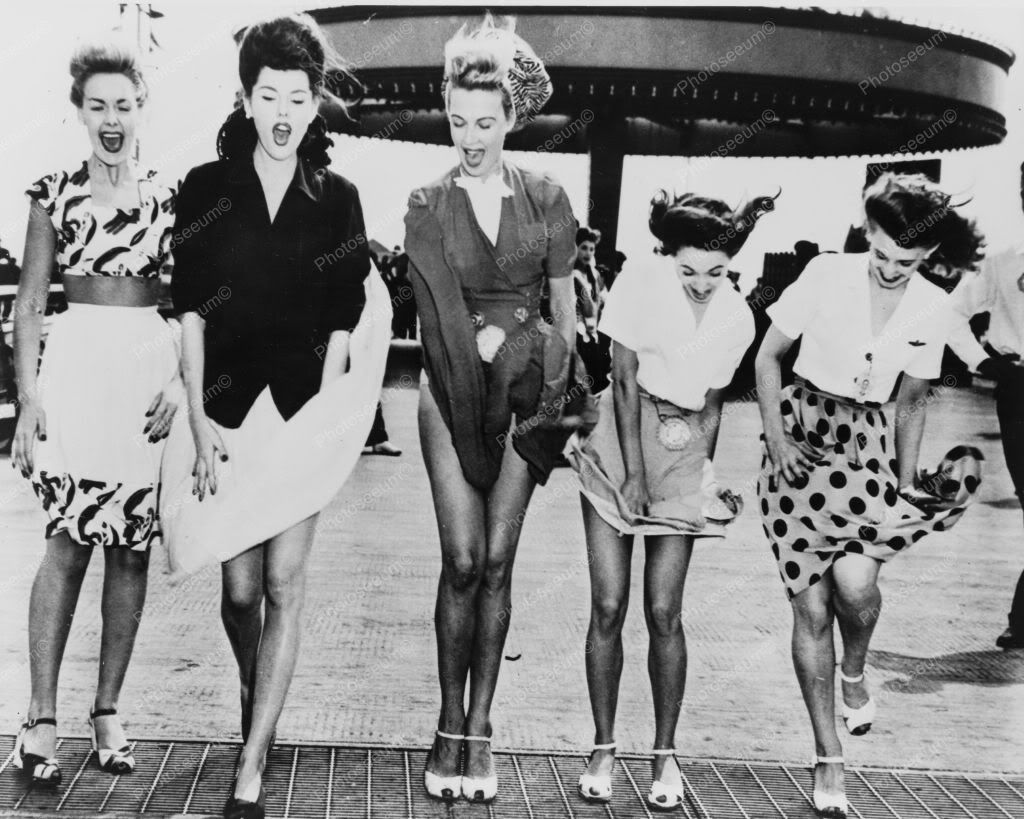 Air Flies Up Ladies Skirts Coney Island 8x10 Reprint Of Old Photo ...