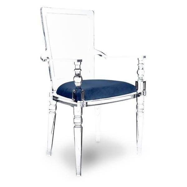 Bon Juliette Lucite Chair In Faux Fur