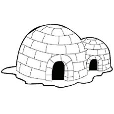 Igloo Coloring Page Gtm Ccamish House Colouring Pages Coloring Pages Igloo