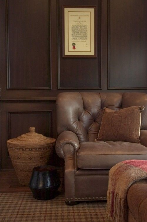 Rich Wood Panelled Rooms: Wood Paneling Living Room, Family