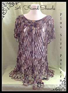 Plus Size Openwork Sweater by Melissa R. M. Frank