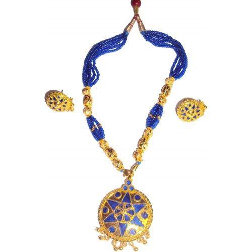 Handmade Indian Assamese Jewellery Japi Blue Shop line