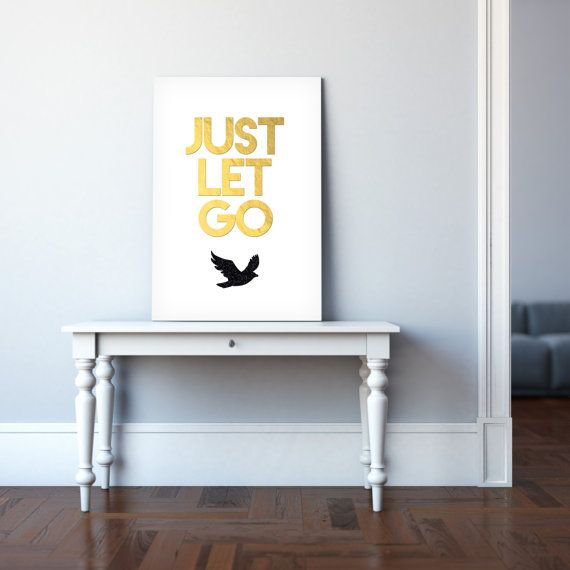 Print Just Let Go by electricbluestudios on Etsy