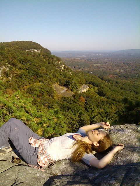 """""""Mountain Top Nap by Thrifty Vintage Chic,"""" via Flickr. Very relevant shot. Outfit is right on the money. And the story, as a resource, adds depth to the character."""