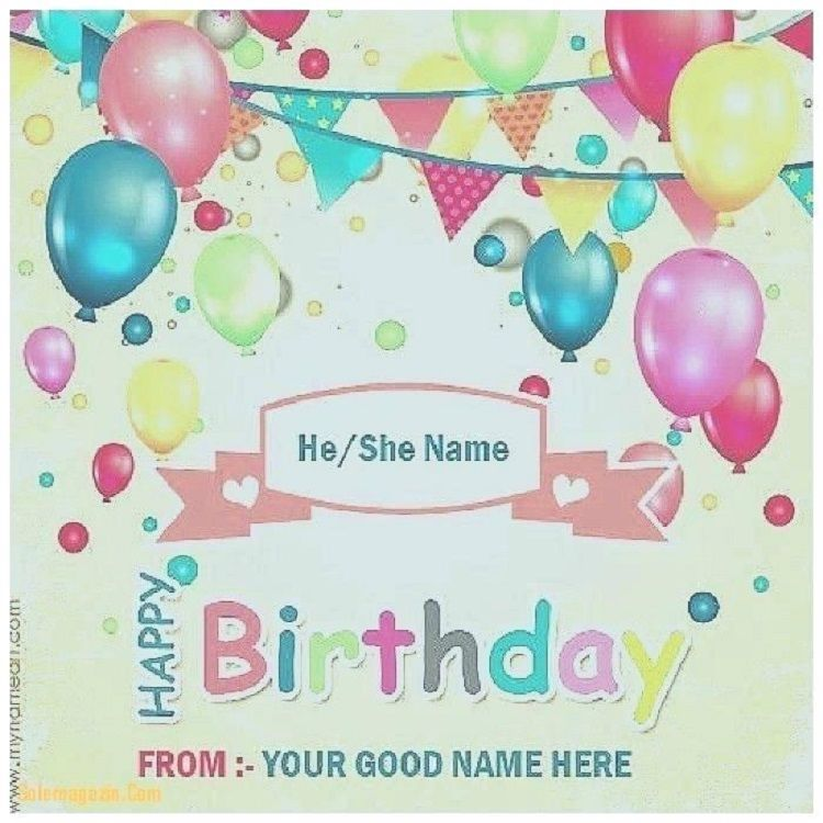 Happy Birthday Invitation Card With Name Photo Online