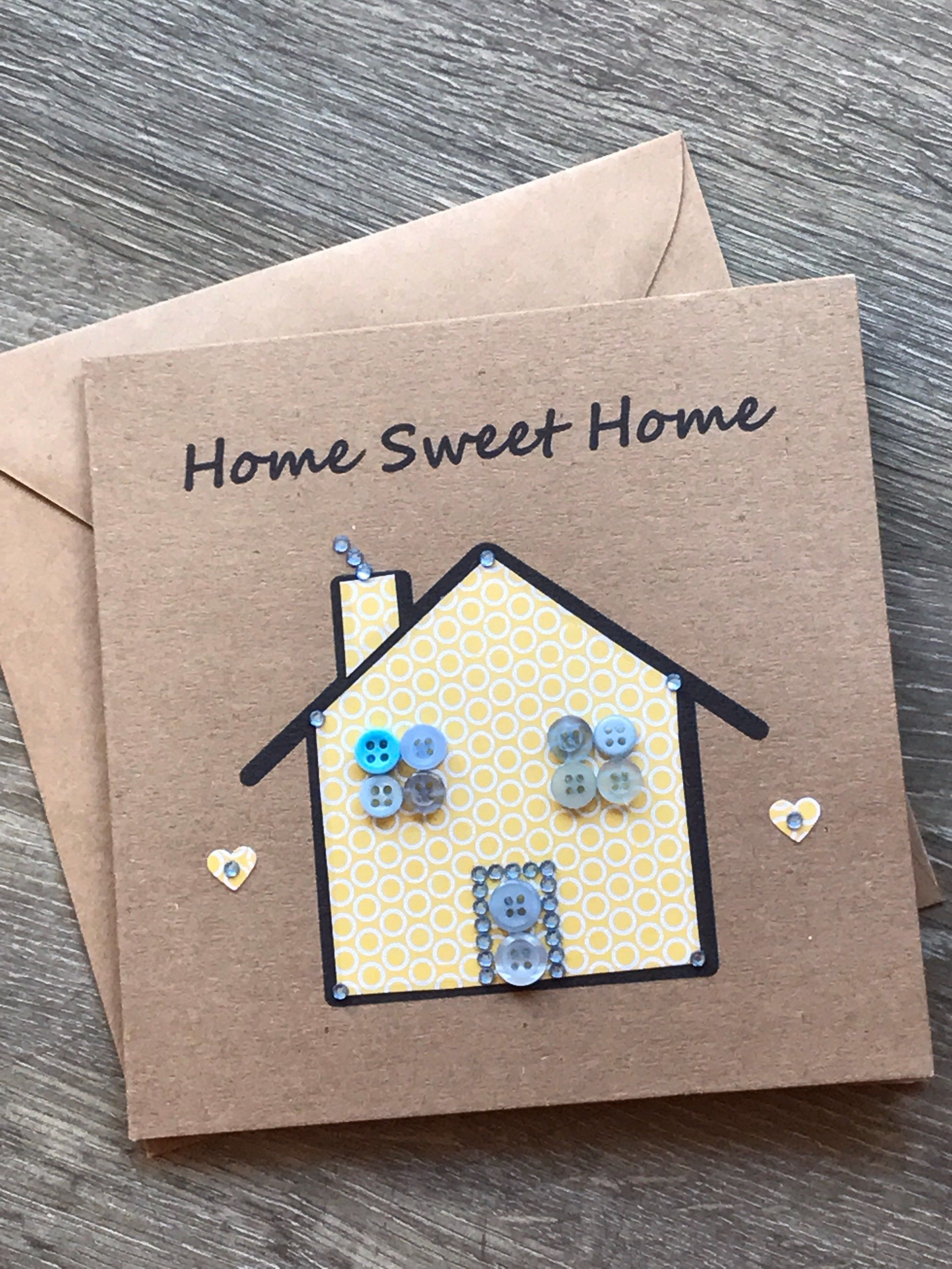 New home button art card rustic moving home greetings card new home button art card rustic moving home greetings card housewarming card new kristyandbryce Image collections