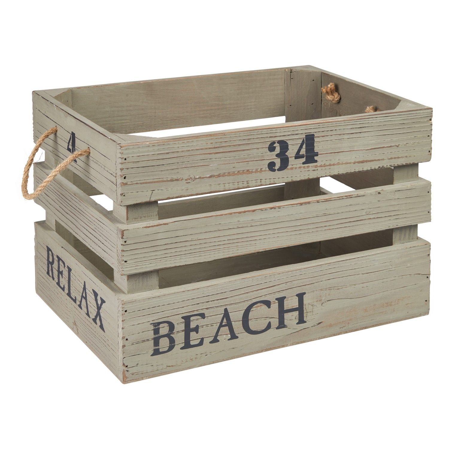 Buybeach look storage box crate decorative storage the range home ideas pinterest - Decorative wooden crates ...