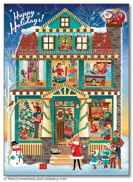 Traditional House Christmas Cards, Package of 8 $12 Original