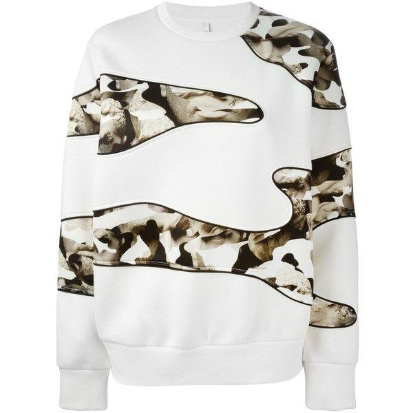 Neil Barrett Abstract Bust Print Sweatshirt ($441) ❤ liked on Polyvore