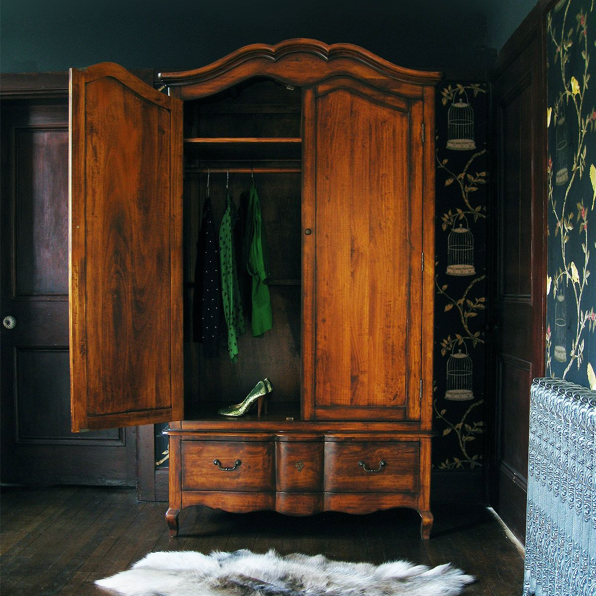 shop victorian closet or antique armoire harp oak carved wardrobe wardrobes