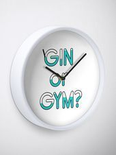 #Clock #Gin #Gym #Quote gin, gym, alcohol, funny, exercise, fitness, drinking, f... -  #Clock #Gin #...