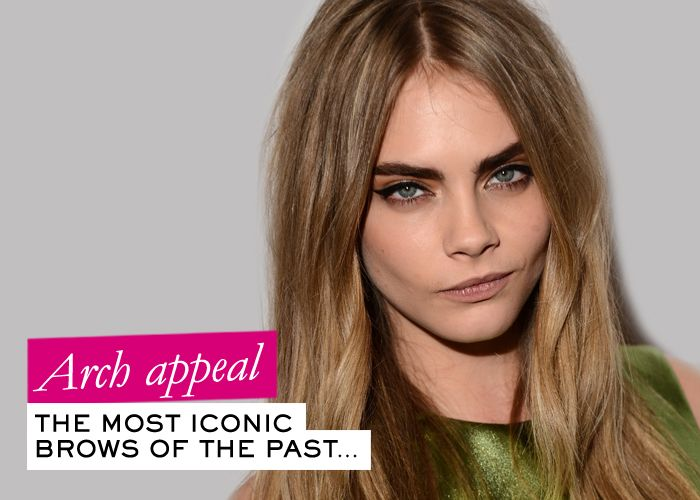 BOLD BROWS ARE BACK! See the evolution of brows from the 1930s till today!