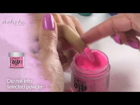 Video Perfect Dip Colour Application • Artistic Nail ...
