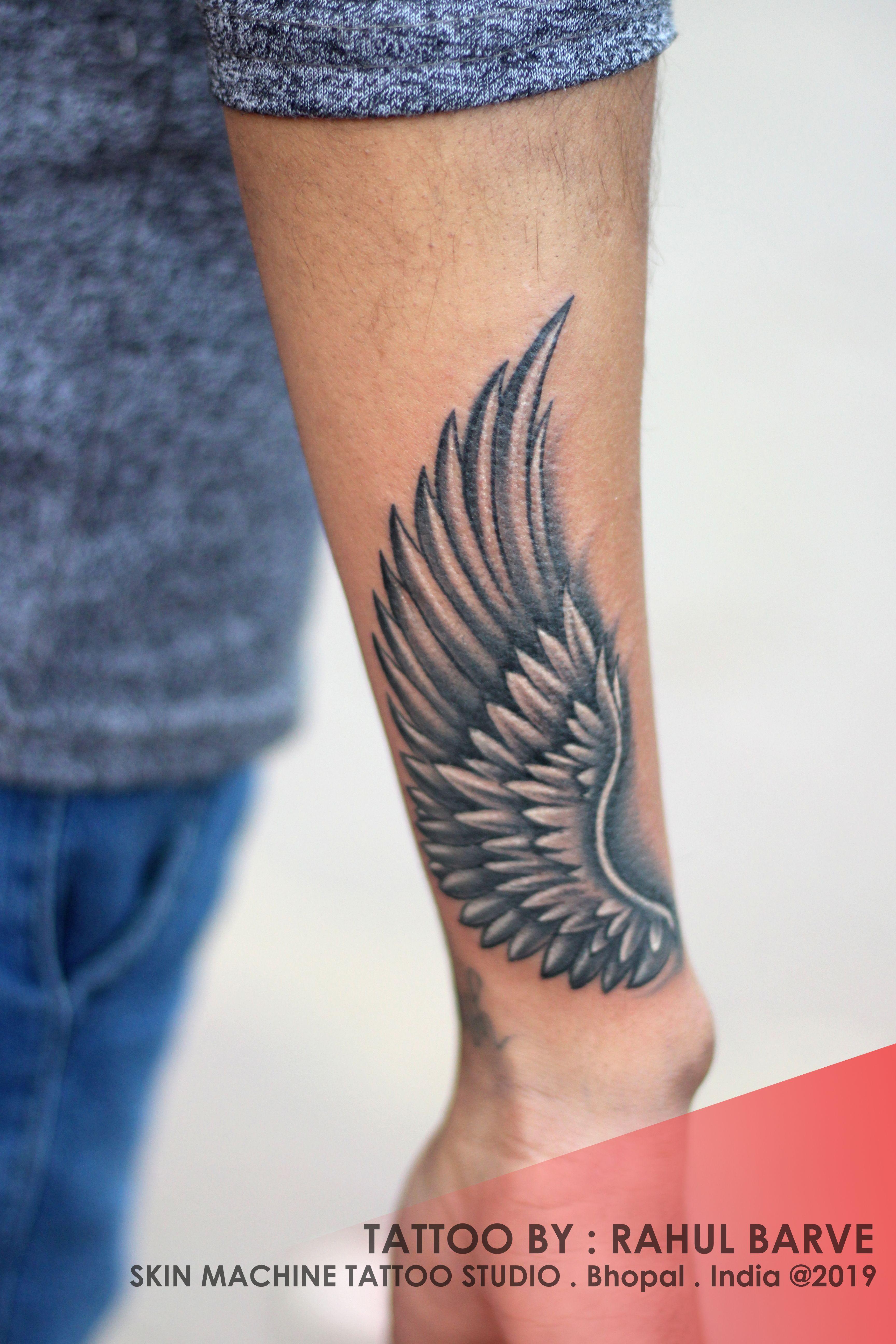 Tattoo Studio Promo Video Corto De Skin Machine Tattoo Studio Aakash Chandani In 2020 Wings Tattoo Wrist Tattoos For Guys Wing Tattoo Men